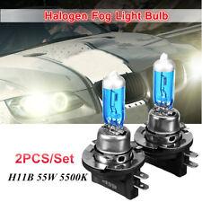 PAIR HIGH POWER HAOLGEN H11B 55W 5000K BULB HEAD FOG LIGHT WHITE LAMP HEADLIGHT