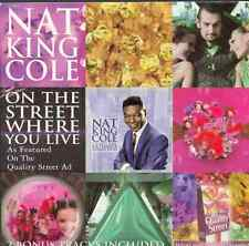 NAT KING COLE: ON THE STREET WHERE YOU LIVE - EMI 3 TRACK PROMO CD (1999)