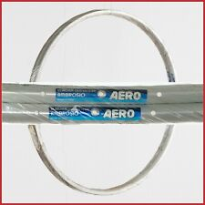 "NOS AMBROSIO AERO RIMS 28"" 700c 32H VINTAGE CLINCHER 90s ROAD RACING BIKE NEW"