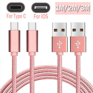 1M/2M/3M Fast Charge Type C Cable IOS Charger for iPhone 8 X 11 iPad 12 Samsung