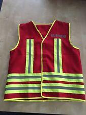 Kinder Feuerwehrweste Kinderweste rot mit Kombireflex mit beidseitigem Druck