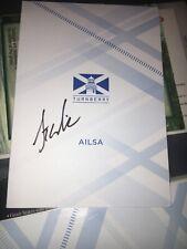 Stewart Cink British Open Signed Turnberry Scorecard