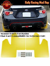 "15"" x11.5"" 4 Pc Yellow Rally Racing Flexible Mud Flaps Splash Guard Fit BMW MINI"