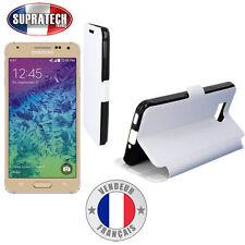 Etui Rabattable Blanc Avec Support pour Samsung Galaxy Alpha G850