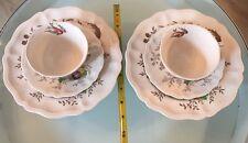 Royal Doulton Hampshire 2 Teacups, 2 Saucers & 2 Salad Plates