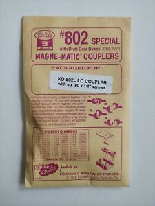 S Scale #802 Kadee Mag-Matic Couplers Special w/Draft Gear Boxes 1993
