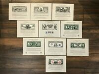 10 all Different BEP Money Mint Souvenir Card Collection - FREE added Cards