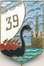 39° Régiment d'Infanterie, émail, ciel gris bleu clair, Drago 1947 (7680)