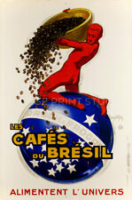 Brazilian Coffee, 1930 Vintage Art Deco Poster Advertising Canvas Print 20x30