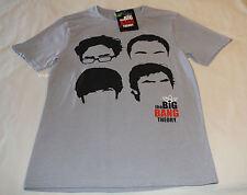 The Big Bang Theory Mens Grey Printed Short Sleeve T Shirt Size S New