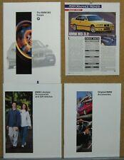 1996 Bmw M3 Brochure Lot (U.S. Market) Wow!