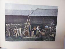 SUEDE/Gravure 19°in folio couleur/ EXTERIEUR D'UNE MAISON EN DALECARLIE