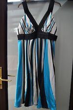 Vila Clothes XXXL Blue Striped Evening Dress