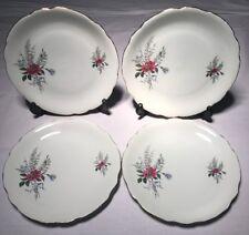 Lot2 De 4 Grandes Assiettes Plates En Haute Porcelaine Du Berry CP D 24 Cm