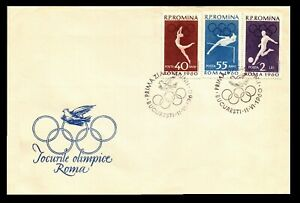 OLYMPICS 1960 ROME -  ROMANIA  Cover 1960 with Pictorial Cancels