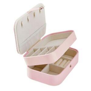 Portable Jewellery Box Organizer Travel Boxes Jewelry Ornament Storage Case Gift