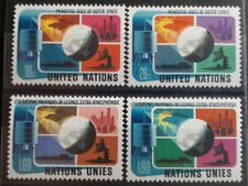 1975 United Nations Full Set Of 4 Stamps - Peaceful Use Of Outer Space - MNH