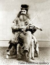 Mountain Man Seth Kinman Bowles Playing the Fiddle - Historic Photo Print