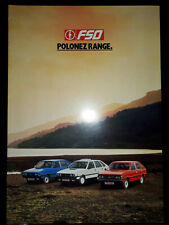 FSO Polonez Brochure 1987