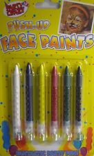 Brand New Set of 6 - Face / Body Paint Colour Sticks Crayons Face Painting Kit