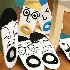 2Pairs Cartoon Expression Korea Ship Floor Socks Cute Cotton Funny One Size