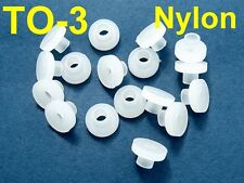 50, Nylon Bushings TO-3 Insulator Washers Transistor Heat Sink Sinking