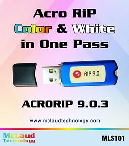 AcroRIP 9.03 with USB Key Dongle for DTF, DTG And UV Printers, Free Shipping