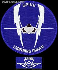 USAF 62nd FIGHTER SQUADRON - F-35 LIGHTNING DRIVER + F-35 SPIKE - ORIGINAL PATCH