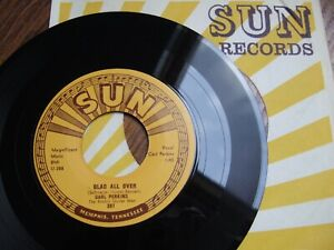 "CARL PERKINS - GLAD ALL OVER / LEND ME YOUR COMB -US 7"" SUN 287 IN CO.SLEEVE NM"