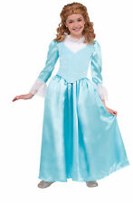 Child Colonial Lady Girls Costume Report Wax Museum Historical Lg 12-14