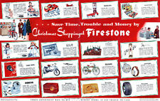 Firestone Christmas Presents TOYS Air Chief Table Radio MISS CURITY DOLL 1953 Ad