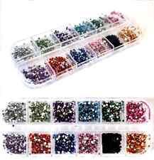 3000 Flat Back Nail Diamante Crystal Rhinestones Set. Nail Art Deocration.