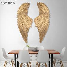 Engelsflügel Wanddeko Engel Wandhänger Silber Wandskulptur Flügel Gold 38x100cm