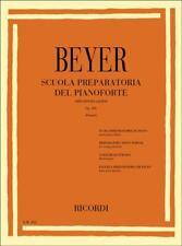 FERDINAND BEYER Scuola Preparatoria del Pianoforte op.101 edizione RICORDI ER104