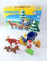 Playmobil 123 6787 Father Christmas With Reindeer Sledge Santa - Complete