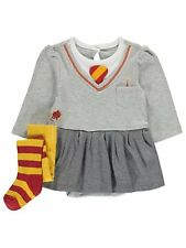 Girls Baby Halloween Harry Potter Hermione Bodysuit and Tights Outfit 6-9 Mnths