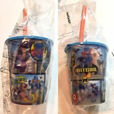 gobelet Hologramme +paille ,Quick DC comics Batgirl vs Pingouin, NEUF & blister
