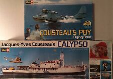 Vintage 1976 Jacques Cousteau's Calypso 1/125 and PBY Flying Boat 1/72 Scale