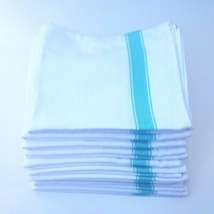Tea Towels 100% Cotton 10 Pack Glass Cloth Kitchen Dish Cloths Catering Towel