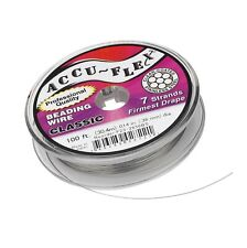 Accu-flex Clear 7 Strand .014 Beading Wire - 100' Foot Spool Accuflex