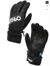 """Oakley """"FN Dry"""" 3M Insulate Black Leather Winter Gloves (XL)"""