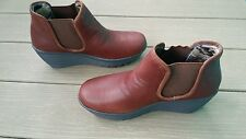 SKETCHERS 48730 WOMENS PARALLEL DOUBLE GREAT BOOT WEDGE BROWN SIZE 8 M