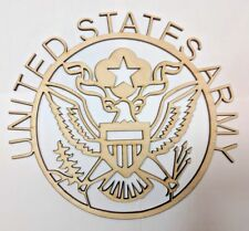 US ARMY wall art Laser cut sign gift idea Unfinished Wood Crafts Supplies