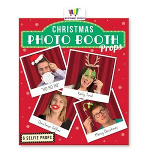 CHRISTMAS PHOTO BOOTH PROPS PARTY  WORK PLAY SELFIE GROUPIE XMAS FUNNY NOVELTY