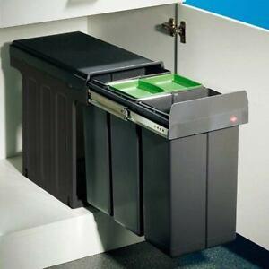 Wesco Bio-Trio 30DT Müllsammler Küche Einbau Abfallsammler 3 x 8 Liter Mülleimer