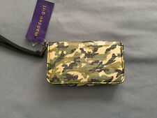 Madden Girl Green Camouflage Wristlet Wallet