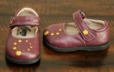 See Kai Run Mary Janes Shoes sz 4 Baby Girl Spiral Dot Cranberry Cute