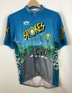 Voler SPOKES Hot Air Balloon Bicycle Club Jersey Adult XXL 2XL