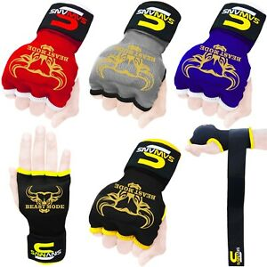 Gel Gloves Punch Bag Hand Quick Wraps Boxing Padded Inner UFC Gear MMA Protector