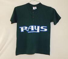 Vintage Tampa Bay Devil Rays MLB Baseball T Shirt Majestic Size YOUTH MEDIUM M